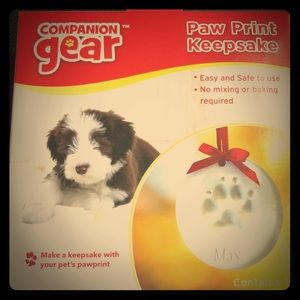Paw Print Kit pet ornament dog cat Christmas NEW!